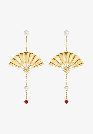 HANGING FAN EARRINGS 22K GOLD PLATED - Oorbellen - gold