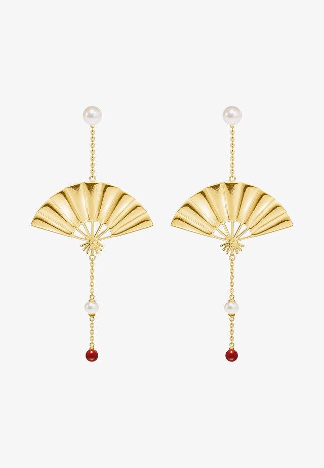 HANGING FAN EARRINGS - Oorbellen - gold