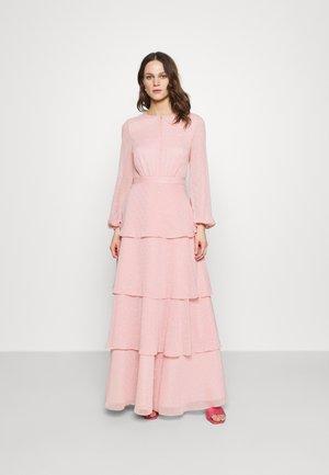 MIT GLITZERTUPFEN UND LANGEM STUFENROCK - Vestido de fiesta - cherry blossom