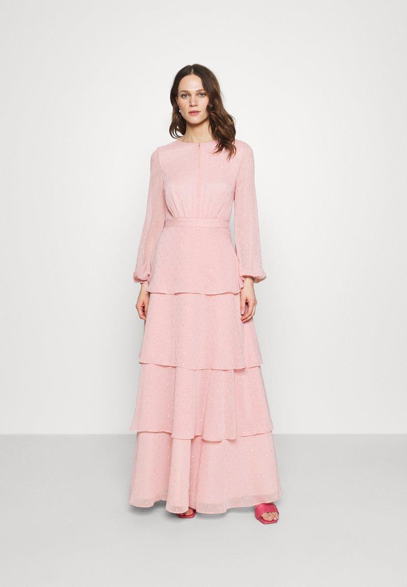 Swing - MIT GLITZERTUPFEN UND LANGEM STUFENROCK - Occasion wear - cherry blossom