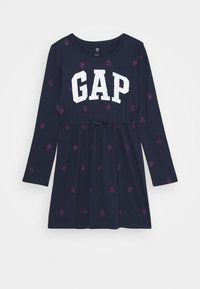 GAP - GIRLS FLIP LOGO DRESS - Žerzejové šaty - navy - 0