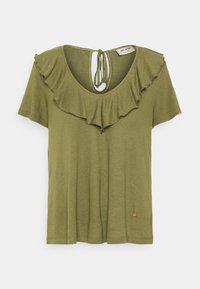 Mos Mosh - FLOUNCE TEE - Basic T-shirt - capulet olive - 4