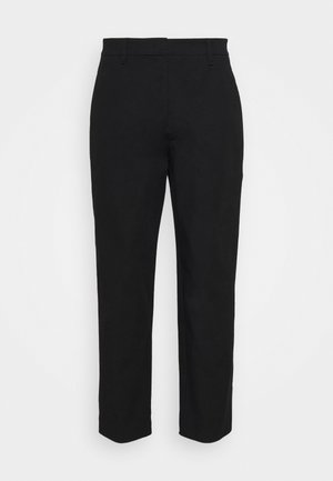 PANTS STRAIGHT LEG - Trousers - black