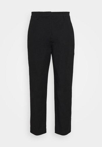 PANTS STRAIGHT LEG - Trousers - black
