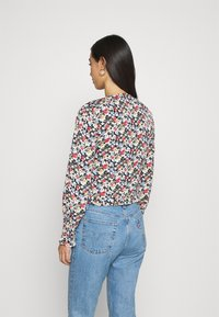Missguided - SHIRRED CUFF FRILL BLOUSE - Long sleeved top - multi