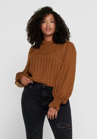 ONLY Carmakoma - Blouse - tobacco brown - 0