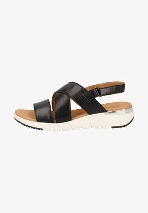 Walking sandals - black metallic