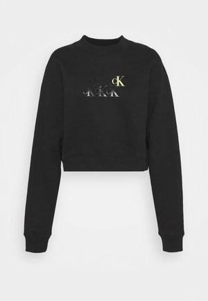 MONOGRAM CROPPED - Sweatshirt - black