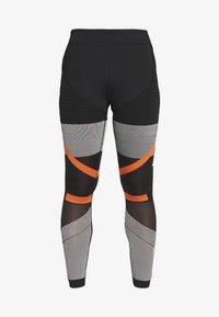 adidas Performance - PARLEY PRIMEKNIT RUNNING HIGH WAIST LEGGINGS - Leggings - black/white/orange - 5