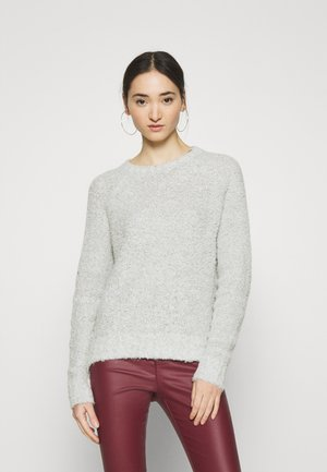 ONLOLIVIA O NECK - Jumper - white/black melange