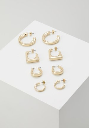 ONLHAPPYHOOP HOOPS 4 PACK - Øreringe - gold-coloured