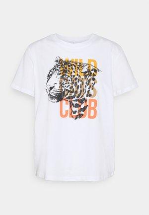 ONLCLUB LIFE - Print T-shirt - bright white