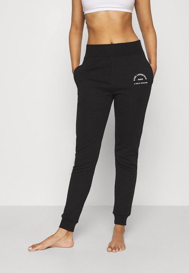 ADDRESS LOGO - Pantalon de survêtement - black