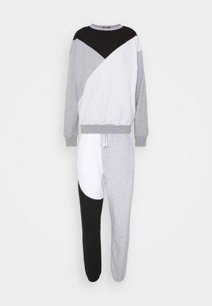 COLOURBLOCK JOGGER SET TALL - Sweater - black/white/grey
