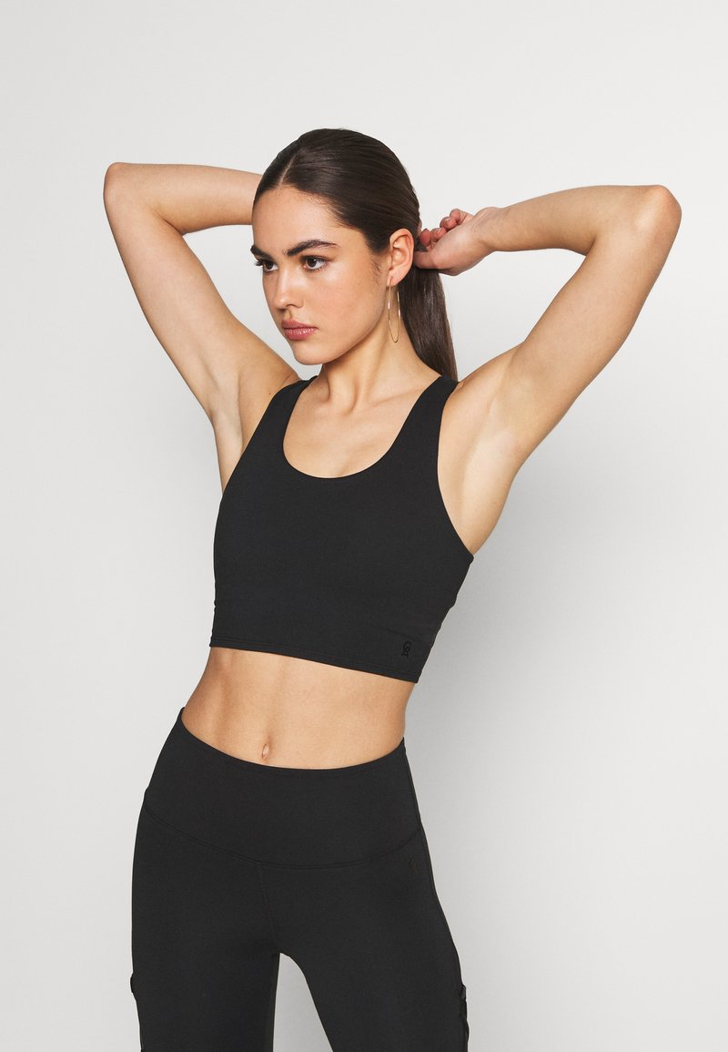 Good American - CRISS CROSS CROP TOP - Top - black