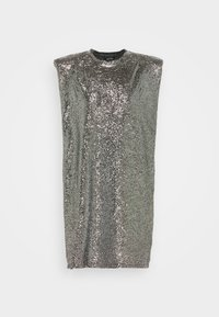Monki - ALVINA BLING DRESS - Robe de soirée - silver / black - 5