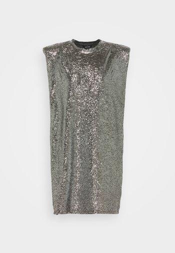 ALVINA BLING DRESS - Vestito elegante - silver / black