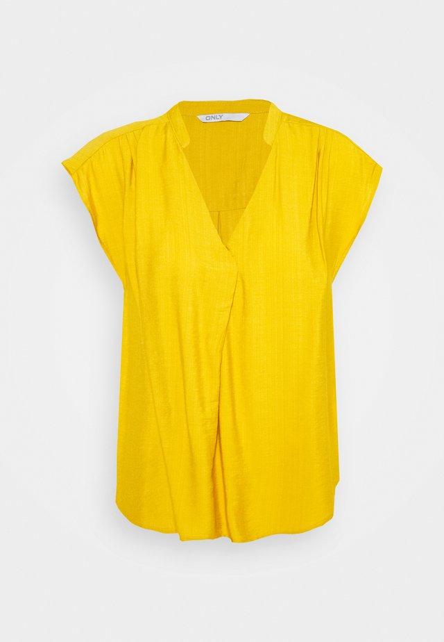 ONLJOSEY V NECK  - T-shirt basic - nugget gold