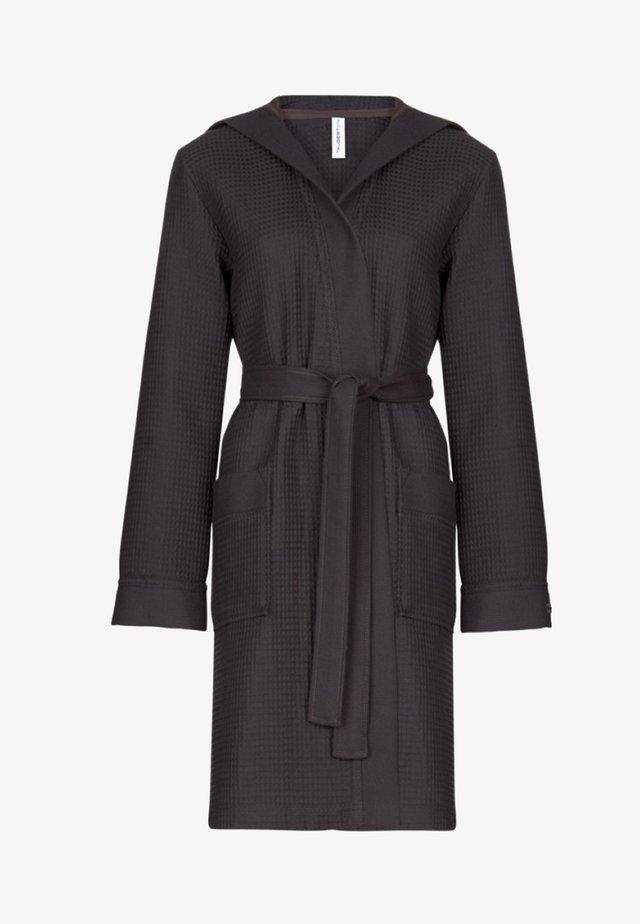 MIT KAPUZE  - Dressing gown - anthrazit