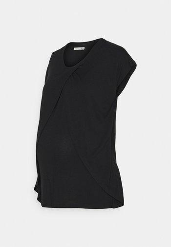 NURSING - T-shirt z nadrukiem - black