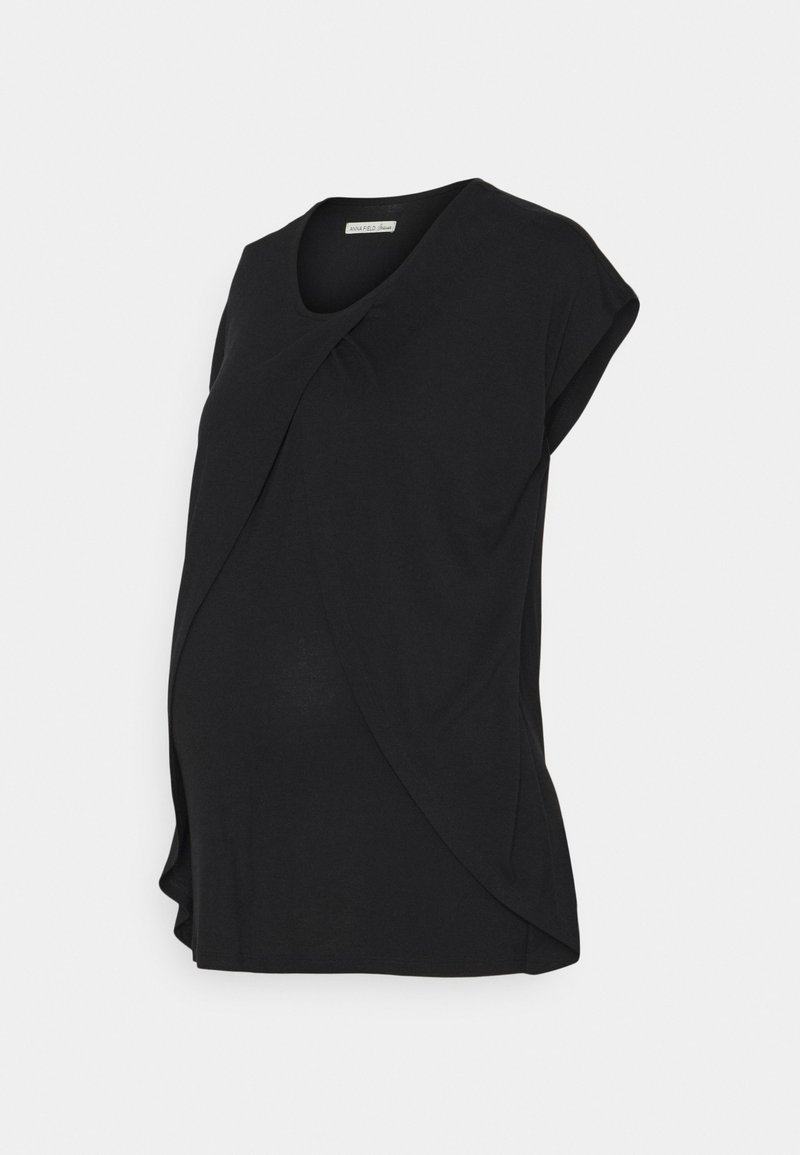 Anna Field MAMA - NURSING - T-shirt print - black