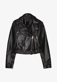 Bershka - Faux leather jacket - black - 5