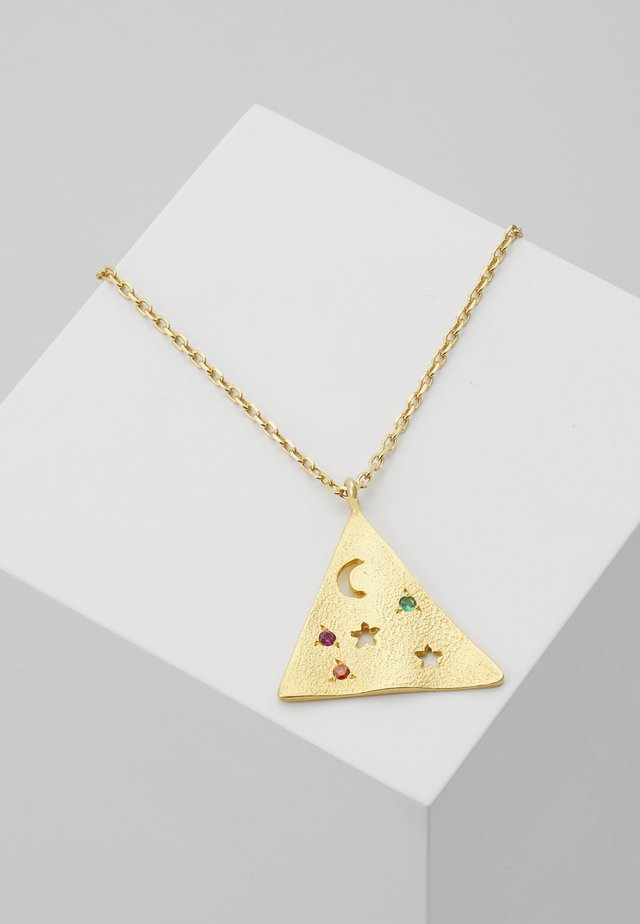 MELIES PYRAMIS LARGE PENDANT - Necklace - gold-coloured