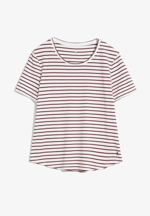 MINAA  - Print T-shirt - off white-ruby red