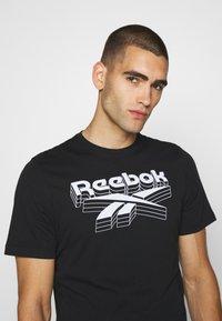 Reebok - TEE - T-shirts print - black - 3
