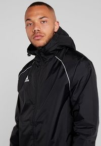 adidas Performance - CORE ELEVEN FOOTBALL JACKET - Hardshell-jakke - black/white - 5