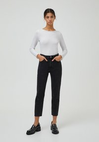 PULL&BEAR - MOM - Relaxed fit jeans - black - 1