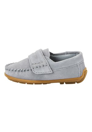 GREY LEATHER PENNY LOAFERS (YOUNGER) - Mocassins - grey