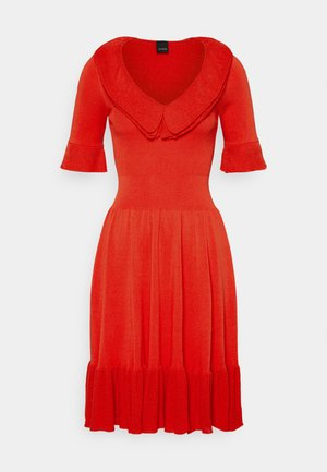 DRIBBLING ABITO - Pletené šaty - red