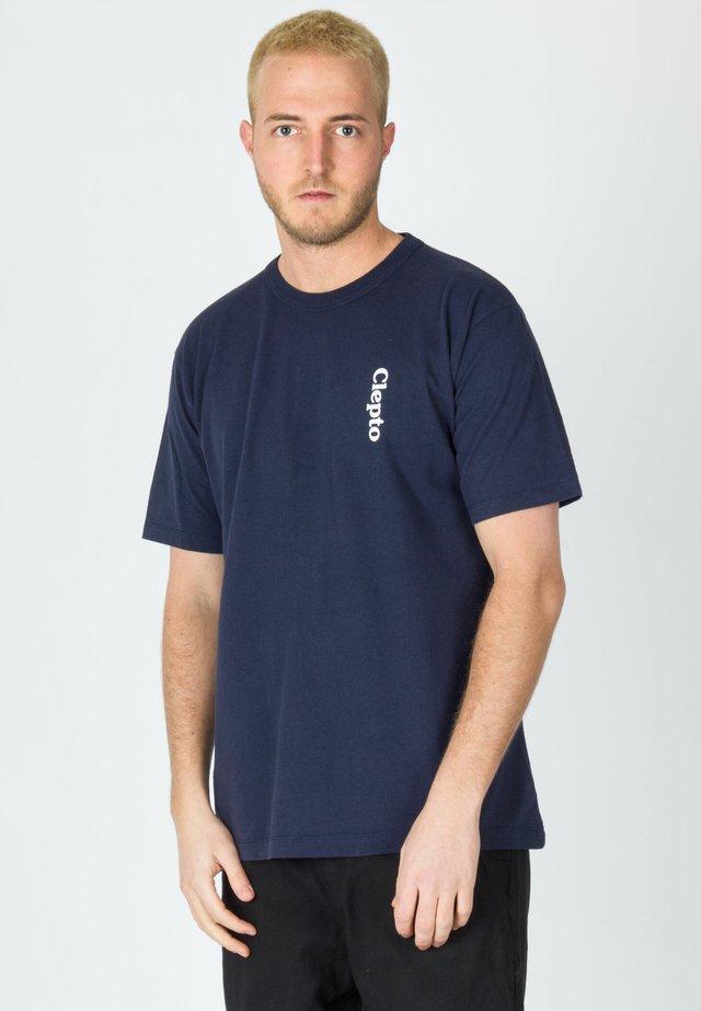 MOON IS LIT - Print T-shirt - dark navy