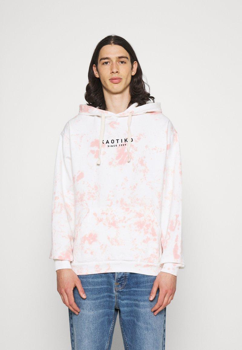 Kaotiko - SUD CAP TIE DYE STAIN UNISEX - Sweatshirt - pink
