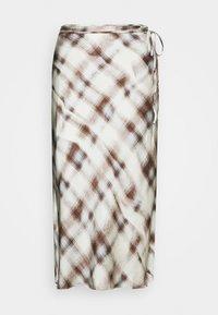 Proenza Schouler White Label - HAMMERED CHARMEUSE MIDI SKIRT - Pouzdrová sukně - mist trompe - 0