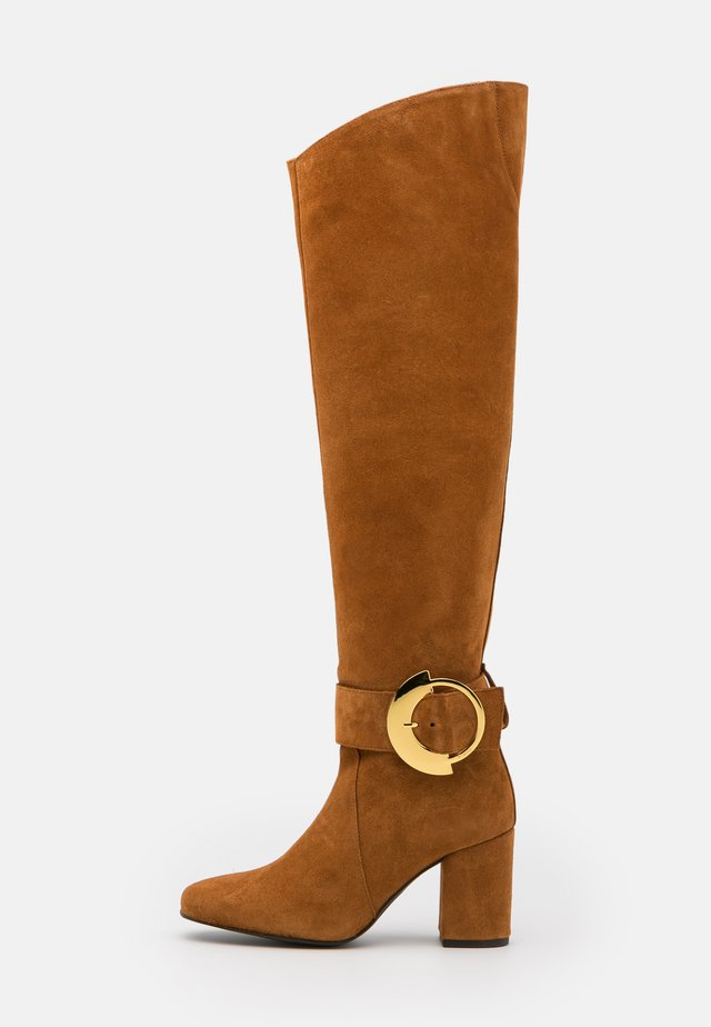 LAETITIA BOOT - Over-the-knee boots - marrone