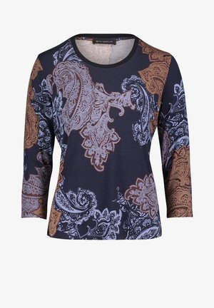 Long sleeved top - dark blue/brown