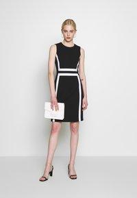 Calvin Klein - CONTRAST PANEL DRESS NS - Day dress - black - 1