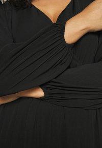 Forever New Curve - COLETTE SKATER WRAP DRESS - Day dress - black - 3