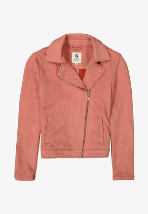 Faux leather jacket - rusty rose
