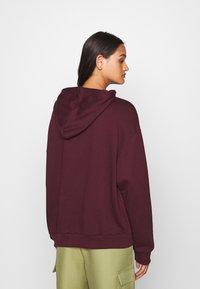 Even&Odd - BASIC - Oversized hoodie with pocket - Huppari - bordeaux - 2