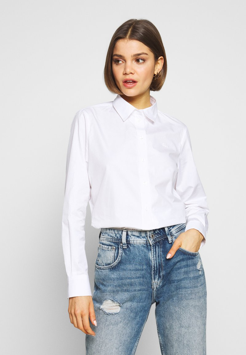 Lacoste - REGULAR FIT CF5614  - Button-down blouse - white