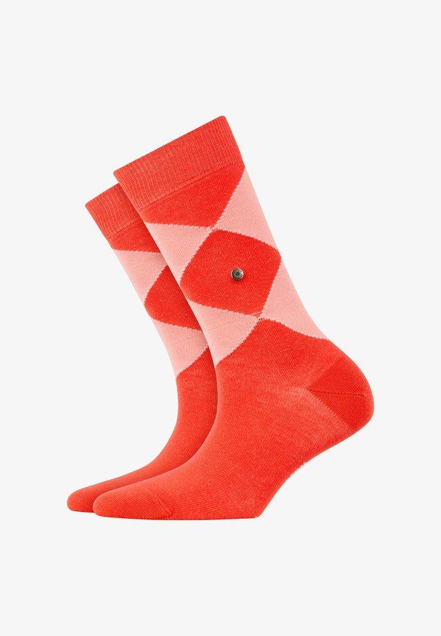 Socks - coral red (8542)