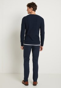 Selected Homme - SLHBERG CREW NECK - Jumper - navy blazer/melange - 2