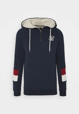 OLD ENGLISH BORG QUARTER ZIP - Felpa - navy