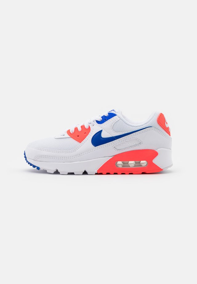 AIR MAX 90 - Matalavartiset tennarit - white/racer blue/flash crimson