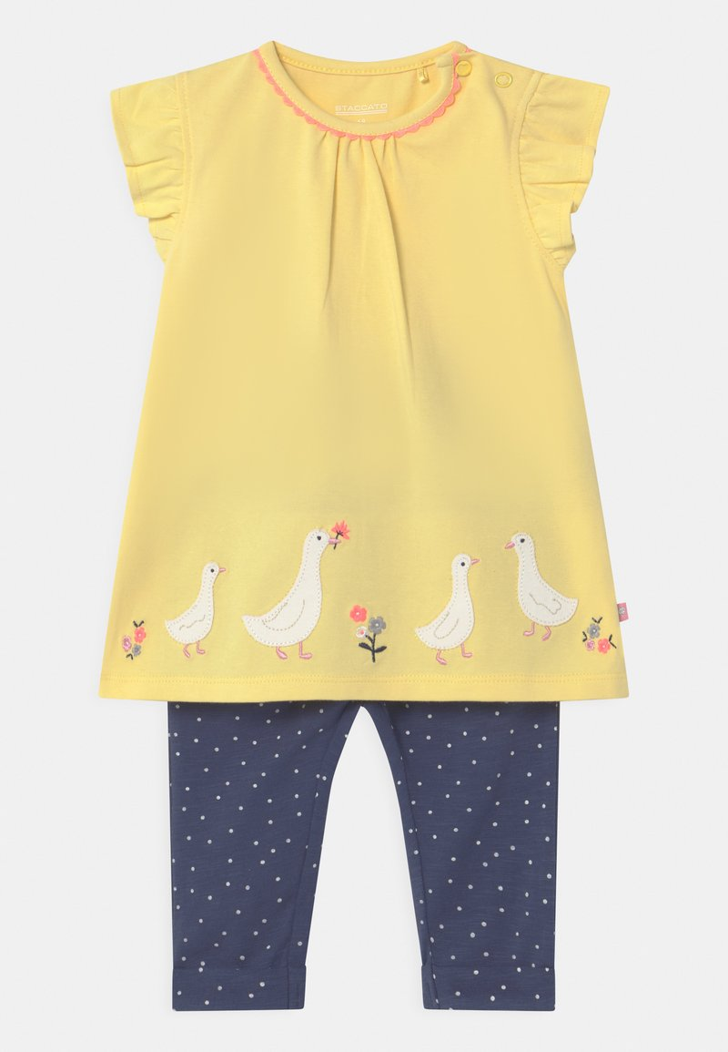 Staccato - SET - Trousers - yellow/dark blue