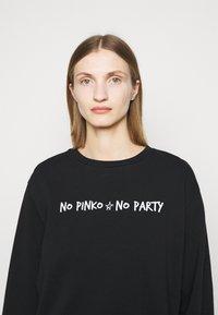 Pinko - ALGEBRA MAGLIA - Sweatshirt - black - 3