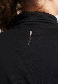 ONLY Play - ONPELINA HIGH NECK CURVY  - Mikina na zip - black - 5